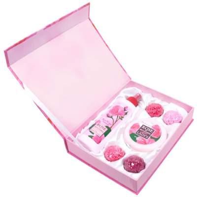 Подарочный набор Rose of Bulgaria № 1 (Натуральная розовая вода 230 мл + Натуральное мыло ручной работы «Роза» 30 г. х 4 + Крем для лица 100 мл.)