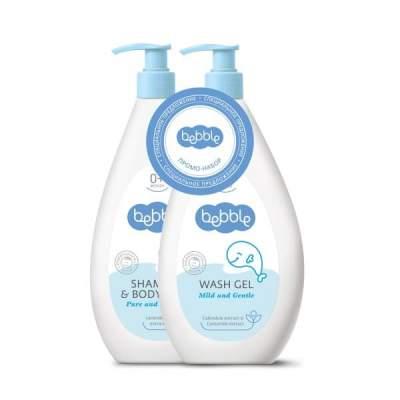 Набор Шампунь для волос и тела 400 мл + Гель для мытья 400 мл Bebble (СКИДКА 30%)