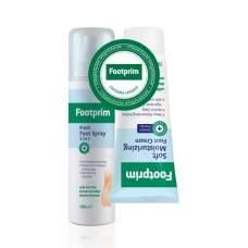 Набор Дезодорант Антиперспирант для ног 2 в 1 + Крем для ног увлажняющий Footprim