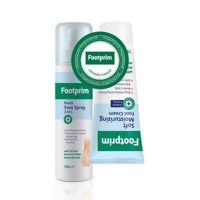 Набор Дезодорант Антиперспирант для ног 2 в 1 + Крем для ног увлажняющий Footprim (СКИДКА 30%)