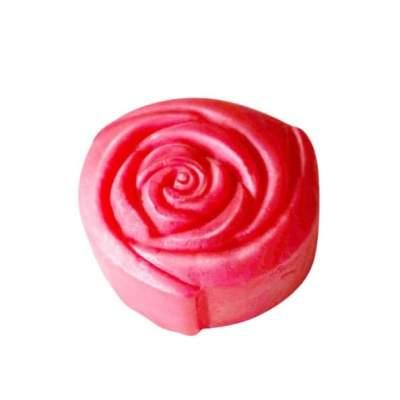 Мыло ручной работы Цветок Розы круглое 60 г
