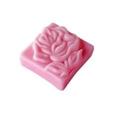 Мыло ручной работы Цветок розы квадратное 60 г