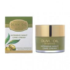 Интенсивный крем ночной уход для нормальной и сухой кожи Olive Oil of Greece 50 ml