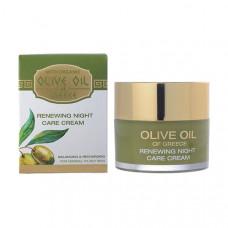 Обновляющий крем ночной для ухода за нормальной и склонной к жирности кожей Olive Oil of Greece 50 ml