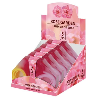 Натуральное мыло ручной работы Розовый сад  80 г