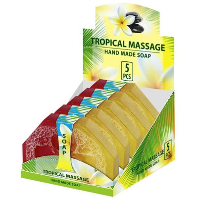 Натуральное мыло ручной работы Тропический массаж 80 г