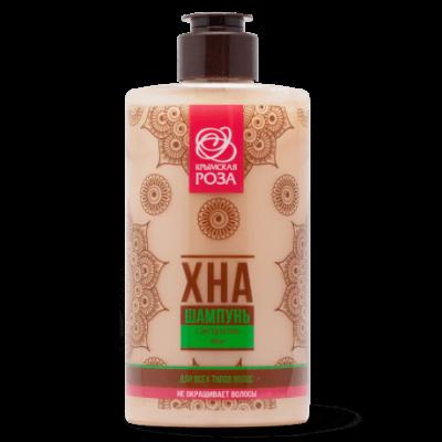 Шампунь Хна с экстрактом хны для всех типов волос, Крымская роза, 450 мл