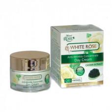 Антивозрастной дневной крем для лица с экстрактом черной икры, White Rose, 50 мл