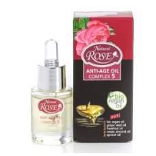 Антивозрастной комплекс масел для кожи лица 6 масел жизни, Rose Natural,15 мл