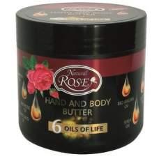 Масло для рук и тела 6 масел жизни, Rose Natural 350 мл