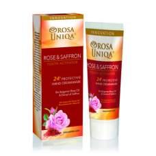 Крем-маска для рук Роза и Шафран защита 24 часа, ROSA UNIQA, 75 мл