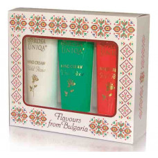 Подарочный набор кремов для рук Цвета Болгарии, Rosa Uniqa, 3х75 мл