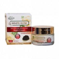 Антивозрастной ночной крем для лица с экстрактом черной икры, White Rose, 50 мл