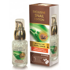 Мультиактивная жемчужная сыворотка для лица с экстрактом улитки и гиалуроновой кислотой, Exclusive Snail, 30 мл