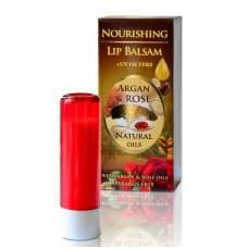 Питательный бальзам для губ с аргановым и розовым маслами (помада), Argan & Rose, 5 мл