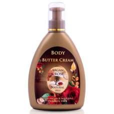 Крем-масло для тела с аргановым и розовым маслами, Argan & Rose, 300 мл