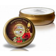 Питательный крем для всех типов кожи с аргановым маслом, Argan & Rose, 150 мл