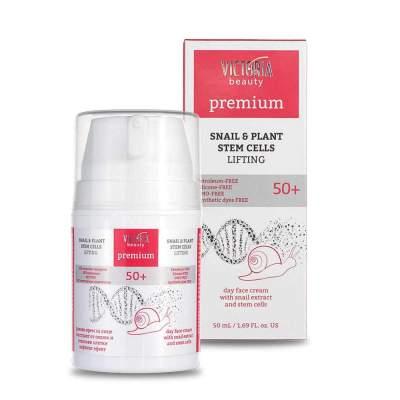 Дневной лифтинг-крем c экстрактом улитки + растительные стволовые клетки 50+ Day cream with SNAIL & Plant stem cells Premium, 50 мл