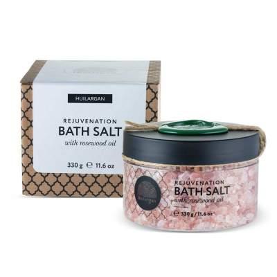 Соль для ванны омолаживающая с маслом розового дерева Huilargan 330г