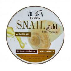 Крем для лица и тела с экстрактом улитки и аргановым маслом Snail Gold, 200 мл