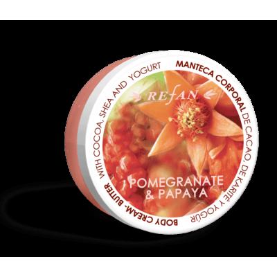 Крем-масло для тела Гранат и Папайя Pomegranate and Papaya Refan 200мл