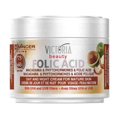 Дневной и ночной крем для зрелой кожи с маслом макадамии и фолиевой кислотой 60-75 Hyaluron & Folic Acid 60-75 лет, 50 мл