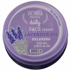 Успокаивающий крем для лица с маслом лаванды Daily Victoria Beauty, 100 мл