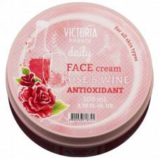 Крем против старения с розовым маслом и экстрактом красного вина Daily Victoria Beauty, 100 мл