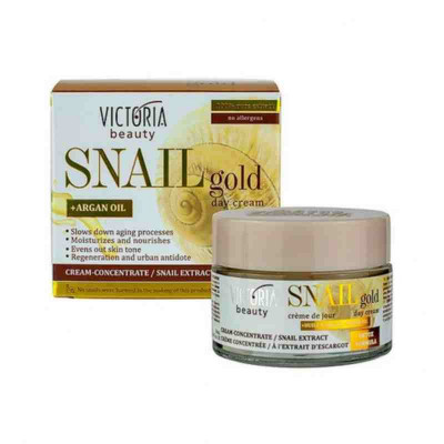 Дневной крем концентрат с экстрактом улитки и аргановым маслом Snail Gold, 50 мл