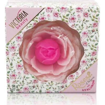 Глицериновое мыло с болгарским розовым маслом и гиалуроном Roses of Bulgaria and Hyaluron, 90г