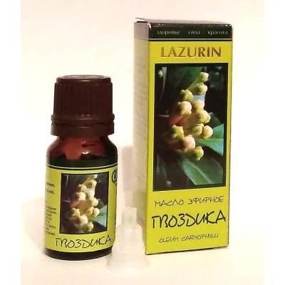 Натуральное эфирное гвоздичное масло Lazurin 10 мл