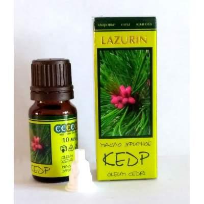 Натуральное эфирное кедровое масло Lazurin, 10 мл