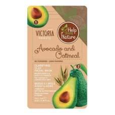 Глиняная маска с авокадо и овсянкой Help from Nature, 7г + 7г