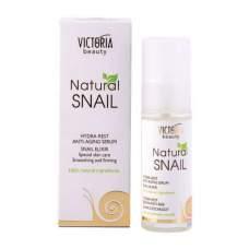 Увлажняющая и восстанавливающая сыворотка для лица HYDRA-REST Anti-age serum Snail elixir Natural Snail, 30 мл
