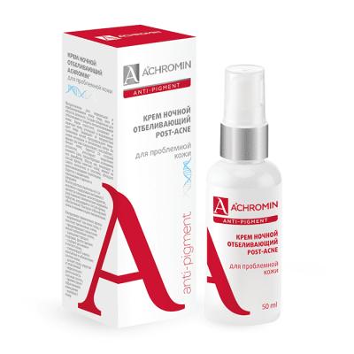 Achromin ® Ночной отбеливающий крем  для проблемной кожи Ахромин,  50 мл