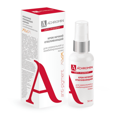 Achromin ® Ночной отбеливающий крем для нормальной и комбинированной кожи Ахромин, 50 мл