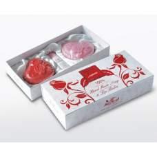 Подарочный набор Rose Luxurious of Bulgaria (Натуральное мыло ручной работы 2x70г, Бальзам для губ Stick 5мл)