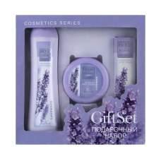Подарочный набор для женщин Herbs of Bulgaria Lavender (Антицеллюлитный лосьон для тела; Питающий крем для лица; Увлажняющий крем для рук)