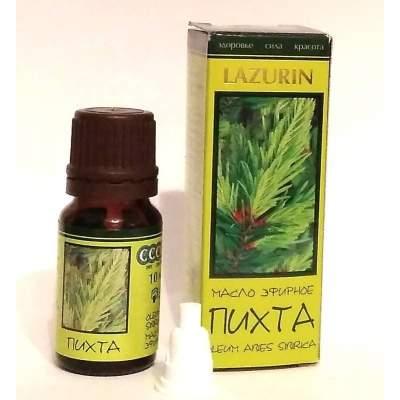 Натуральное эфирное пихтовое масло Lazurin 10 мл