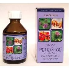 Репейное масло с маслом касторовым и витаминами Lazurin 50 мл