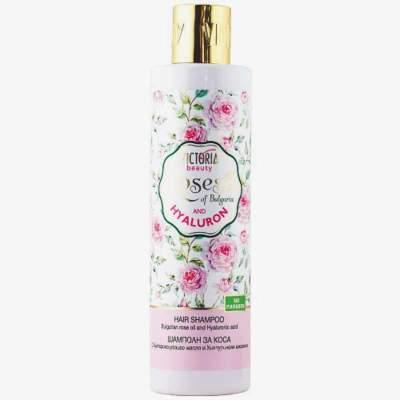 Шампунь для волос с розовым маслом и гиалуроновой кислотой Roses of Bulgaria and Hyaluron, 250 мл