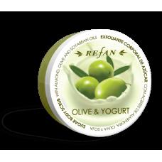 Скраб для тела Олива и йогурт Refan 240г