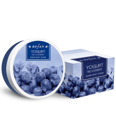 Скраб для тела Йогурт и Бузина Yogurt and Eldberry Refan 240 г