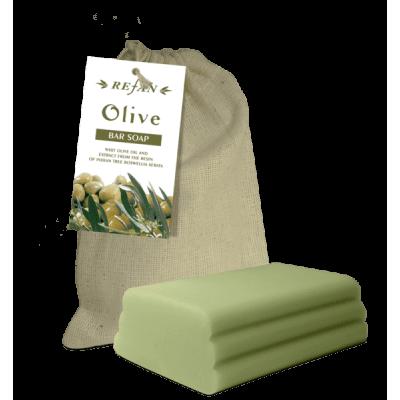 Мыло оливковое в холщовом мешочке Refan 100 гр