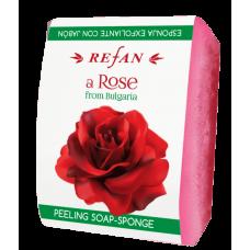Мыло-губка Роза из Болгарии Refan 75 г