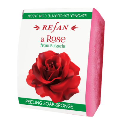 Мыло-губка A Rose from Bulgaria  Refan 75 г