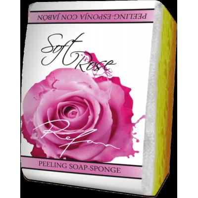 Мыло-губка Нежная Роза Refan 75г
