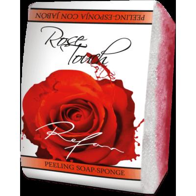 Мыло-губка Прикосновение розы  Refan 75г